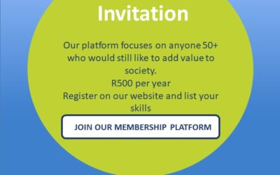 50 Plus-Skills is an online skills community that provides a platform for individuals, aged fifty plus, to connect with and provide their skills, time and services to business, civil society, academic institutions, NPOs and government.   www.50plus-skills.co.za